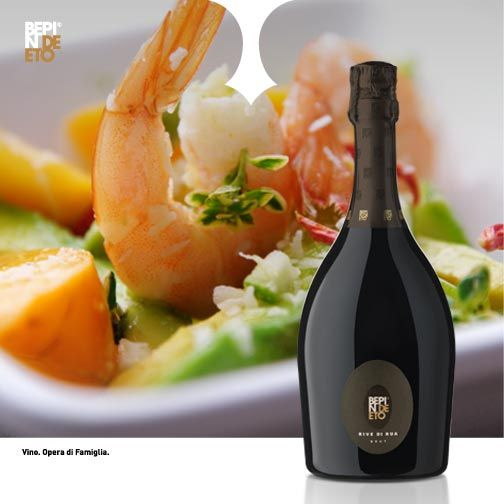 The week starts! We suggest to uncork a bottle of Prosecco Superiore Rive di Rua in order to savour its delicate floral impressions of rose petals and acacia blossoms.  Perfect like a sparkling wine for the entire meal, is great with fish appetizers.