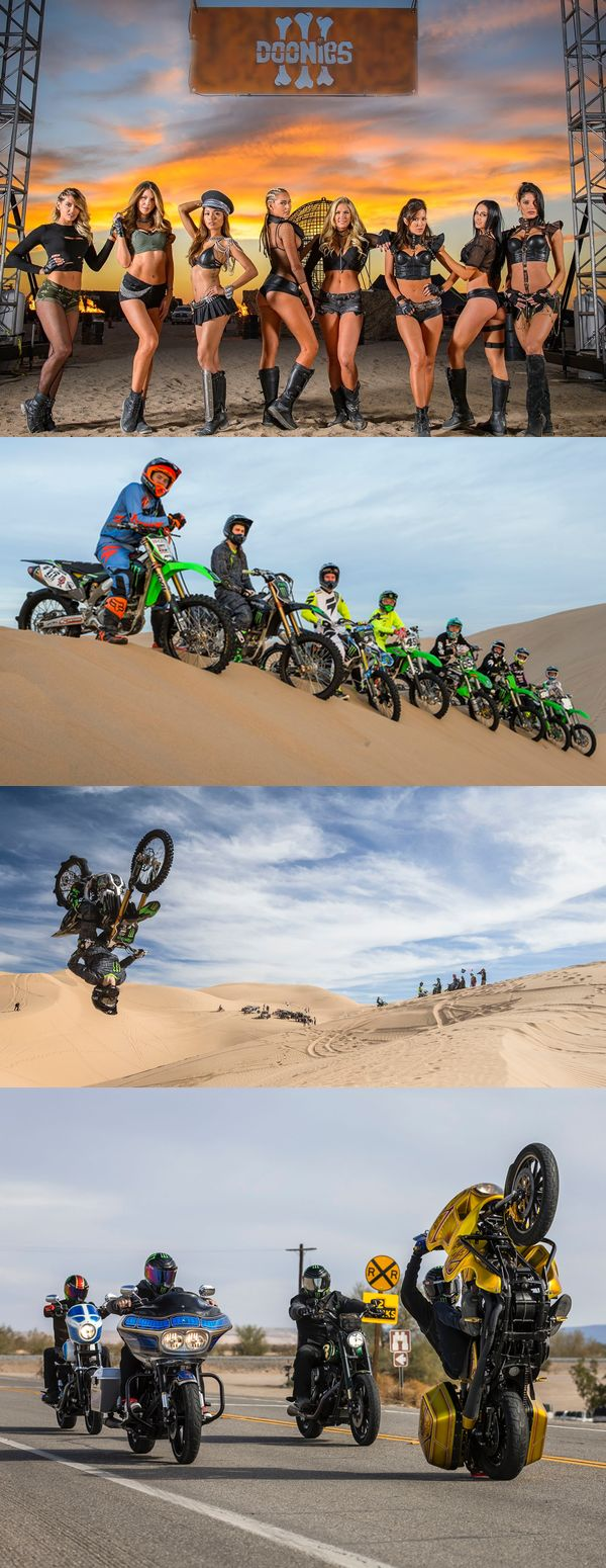 Monster Energy hosts an adrenaline-filled party for Doonies 3, including some of the world's best dirt bike riders, monster truck jumps, and the bikini clad Monster Energy Girls.