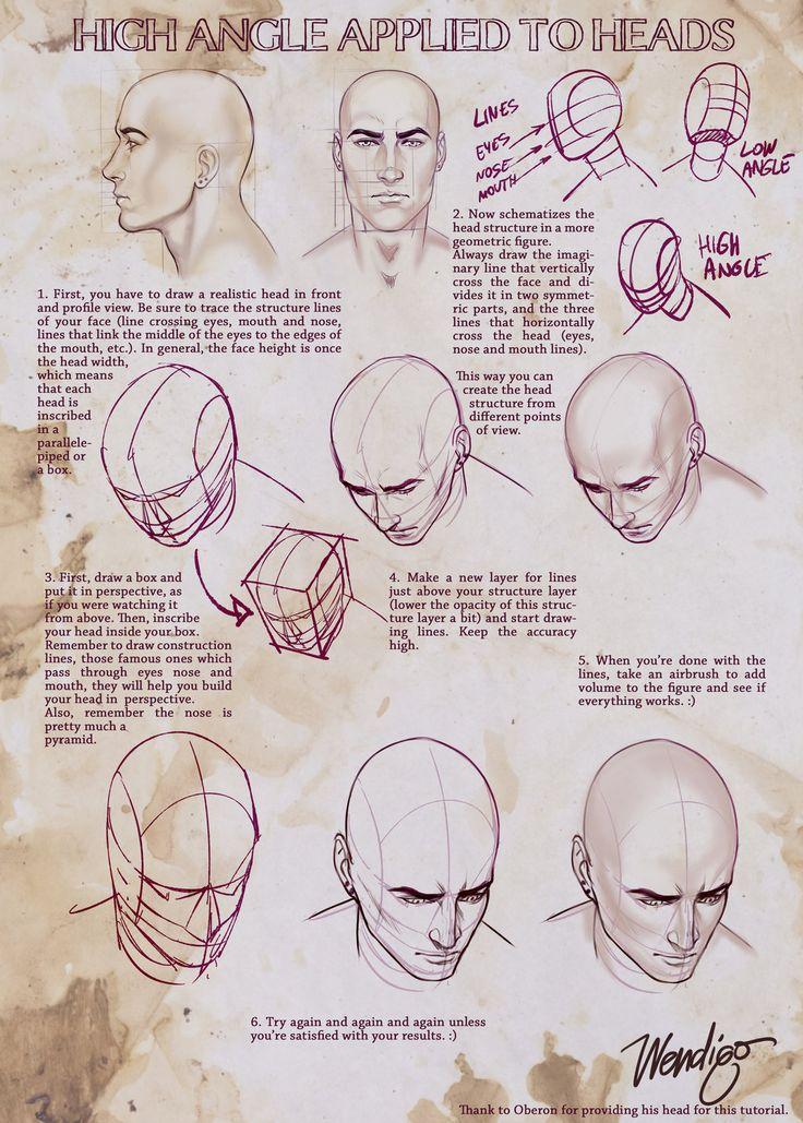High Angle Applied to Heads - Quick guide by SirWendigo.deviantart.com on @DeviantArt