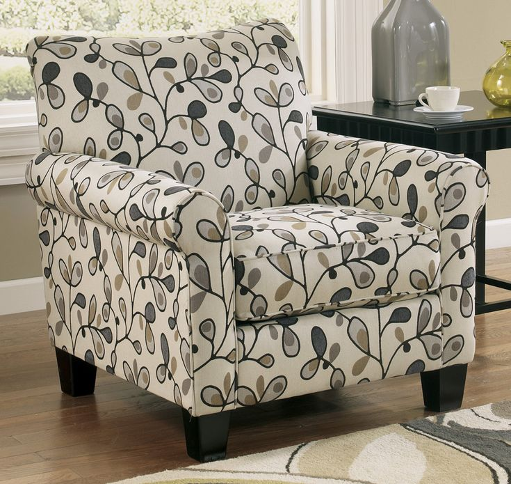the gusti chair from ashley furniture homestore not a big fan of the fabric but the shape is cute