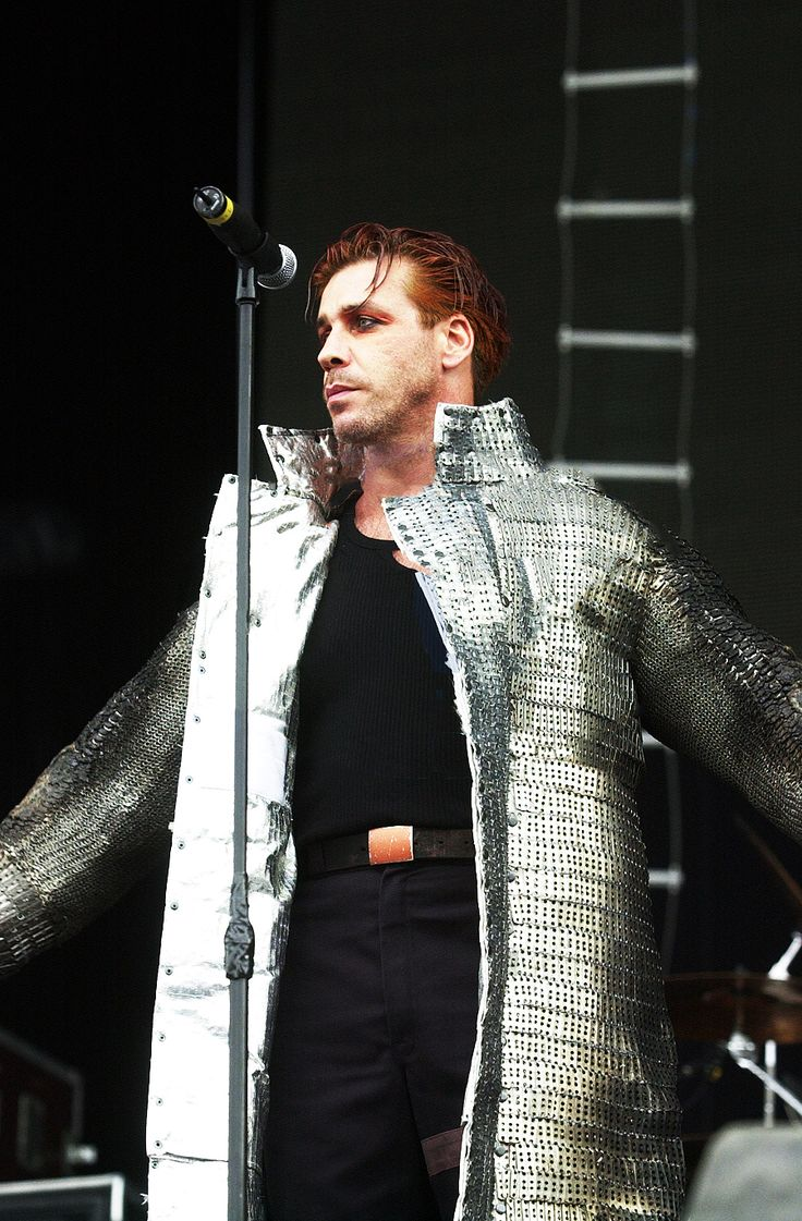 #Till Lindemann in his asbestos coat, he is a skilled pyrotechnist
