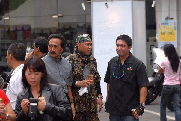 With the late Sophan Sophian, founder of Jalur Merah Putih....