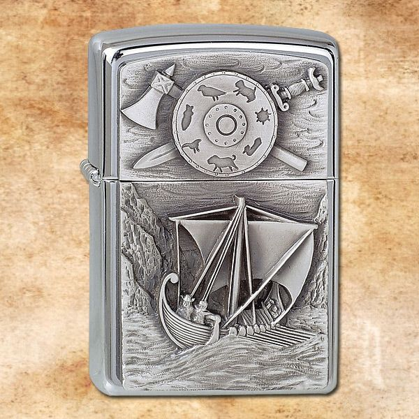 Zippo Fuel Lighter Viking - BackToHistory.com - international shop for medieval equipment