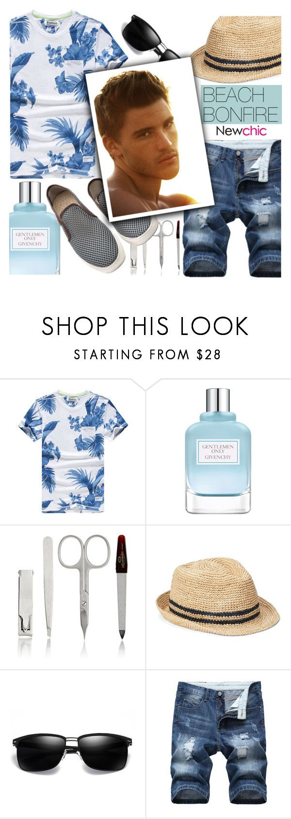 """Newchic #20"" by sandralalala ❤ liked on Polyvore featuring Givenchy, Barneys New York, Gap, men's fashion and menswear"