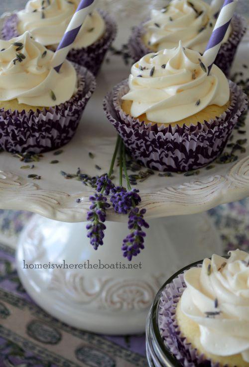 Lavender Lemonade Cupcakes #lavender