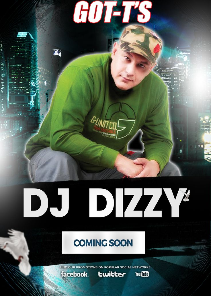 Great News, DJ Dizzy, one of the BEST SA DJ's ever, will come to GOT-T'S soon.  Keep an eye on our Social Media for more information.
