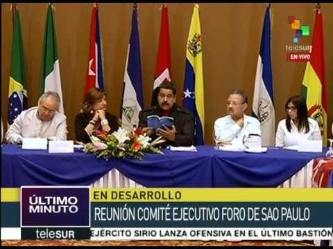 Participa Nicolás Maduro en reunión del Foro de Sao Paulo