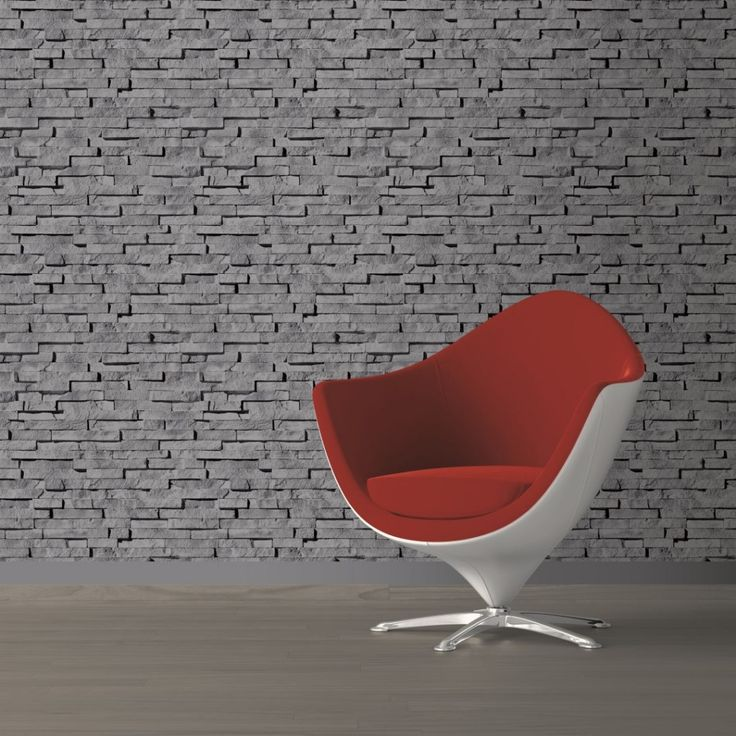 Ταπετσαρία τοίχου με τούβλα