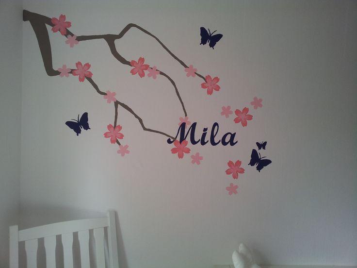 DIY muurschildering maken met naam. Lees hier meer: http://www.mcdid.nl/2012/07/06/muurschildering-met-naam/