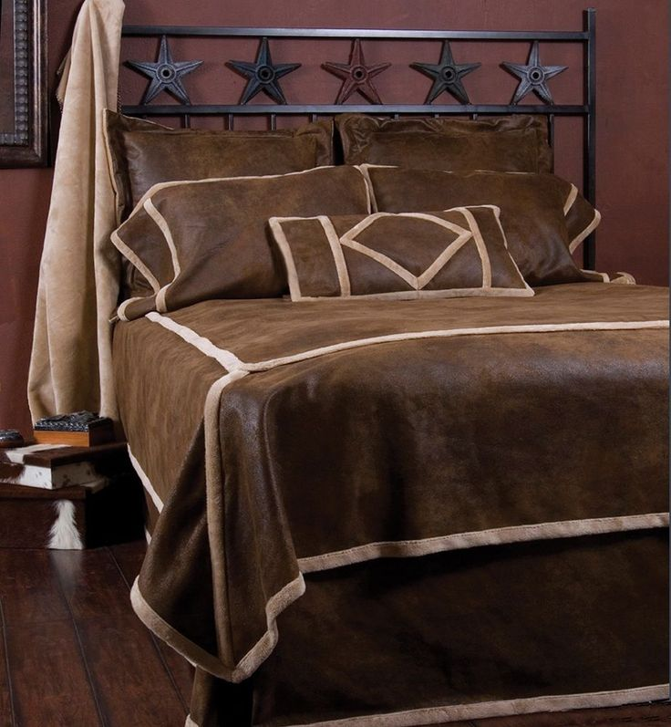 Western Bedding Set Bed Comforter Twin Queen King Rustic Cabin Lodge Brown New #Carstens #Western