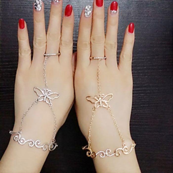 Bracciale farfalla in metallo