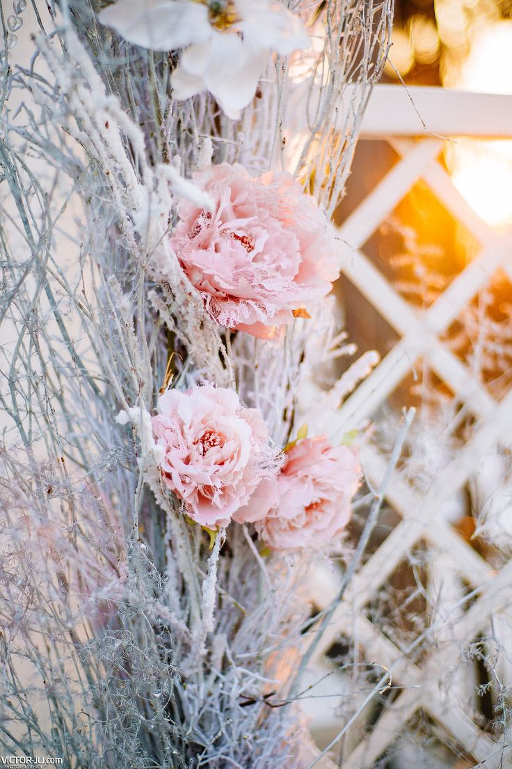 Winter style artificial flowers decor