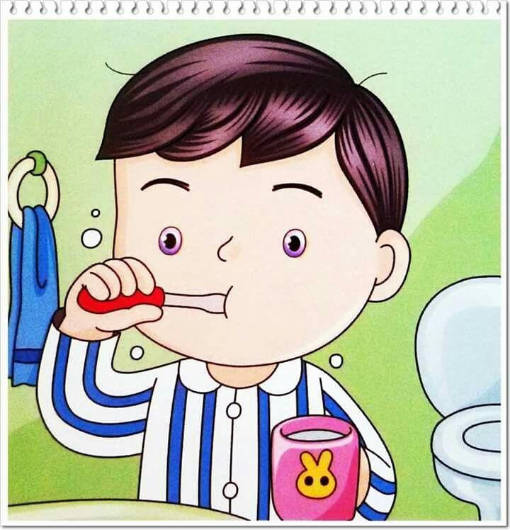A lavarse los dientes