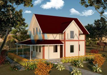 100 m² Çift Katlı Prefabrik Ev 2