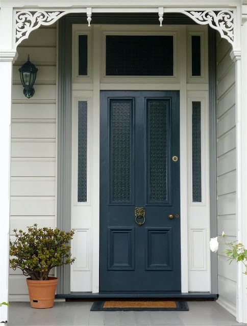 17 best images about front door on pinterest hale navy - Pictures of blue front doors ...