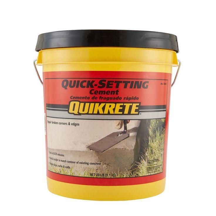 Quikrete 20 Lb Quick Setting Cement Concrete Mix 124020