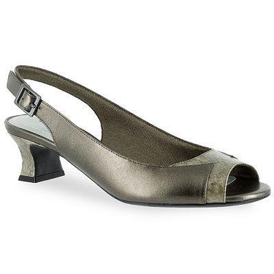 Easy Street Yen Women's Slingback Peep-Toe Heels