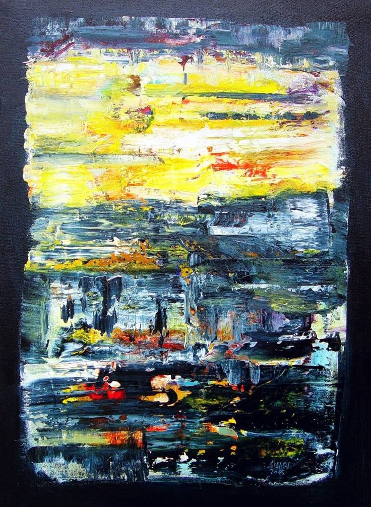 Buy Composition AP547, a Acrylic on Canvas by Radek Smach from Czech Republic. It portrays: Abstract, relevant to: abstract expressionism, richter, layered painting, landscape yellow, abstract, nature Original abstract layered painting on canvas.  Ready to hang.  No framing required (it can be framed).