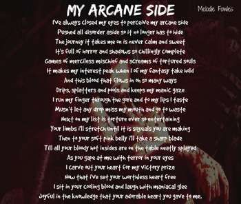 """""""My Arcane Side"""" #Creative #Art in #poetry @Touchtalent http://bit.ly/Touchtalent-p"""