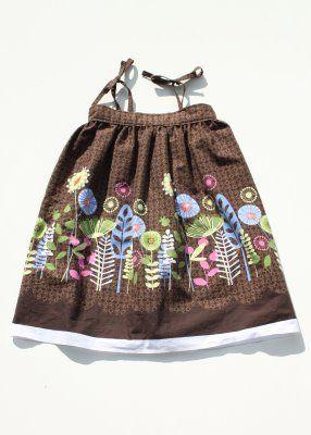 DIY border fabric sundress sewing tutorial 2 via lilblueboo.com