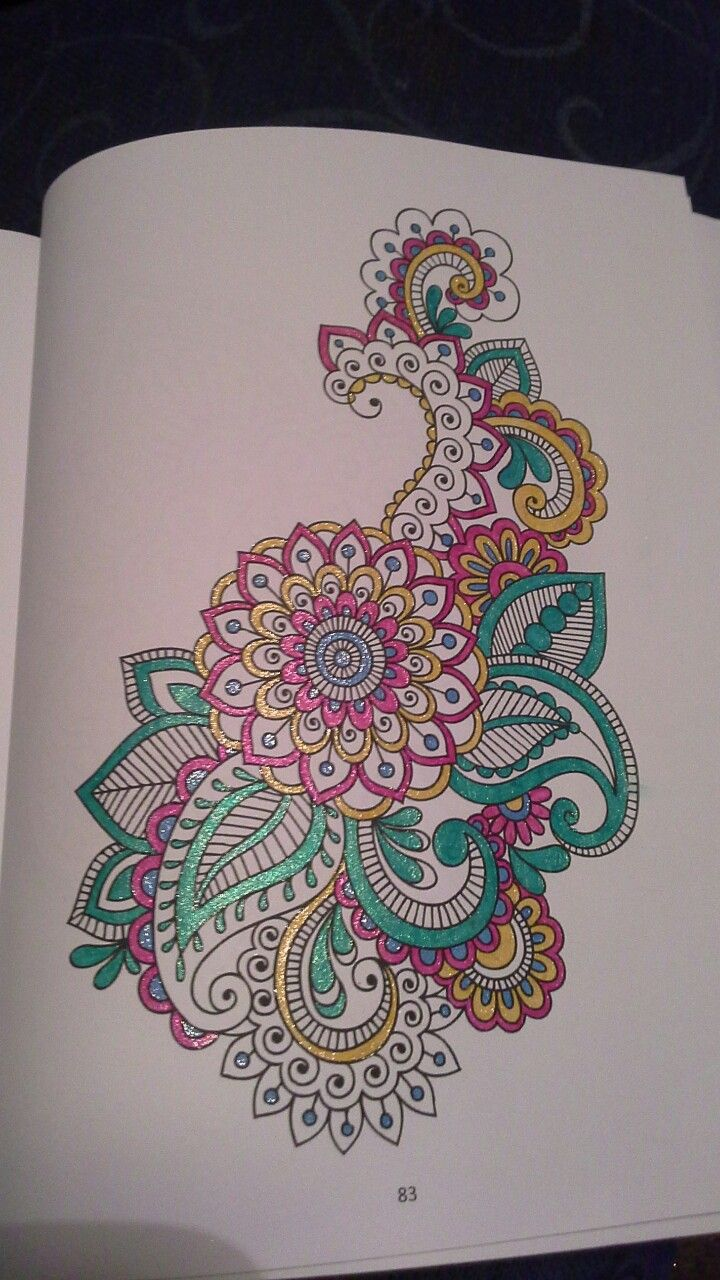 From flower patterns, hobby habitat colouring book