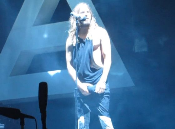 Jared Leto's Bulge Is Unforgettable: Watch the Singer Grab His Impressive Junk During 30 Seconds to Mars Concert  Jared Leto