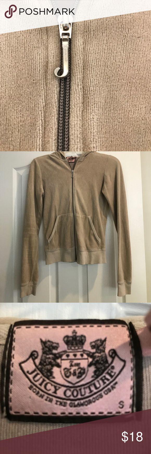 Nude - Velour - Zip Up - Juicy Jacket - size small Nude - Velour - Zip Up - Juicy Jacket - size small Juicy Couture Tops Sweatshirts & Hoodies