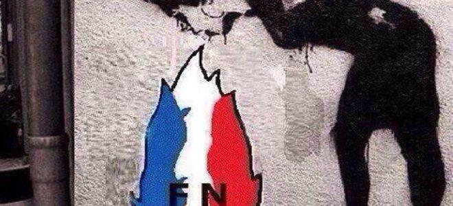 Η εικόνα της ημέρας: «Εμετός» στους τοίχους του Παρισιού -Το γκράφιτι για τη νίκη της Λεπέν