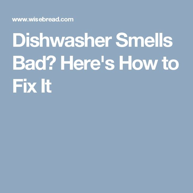 how to get smell out of dishwasher