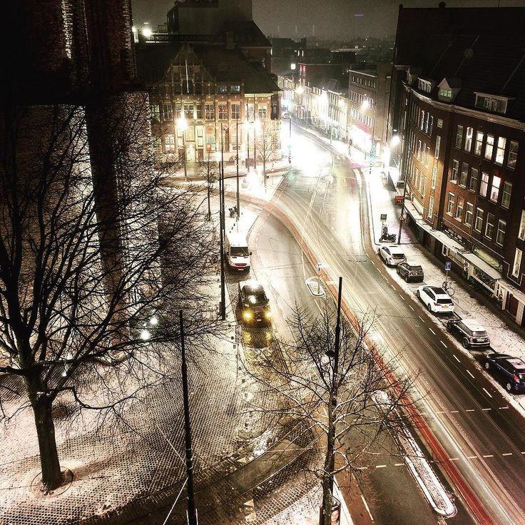 #snow #longexposure #iphone6splus #fridayevening - from Instagram