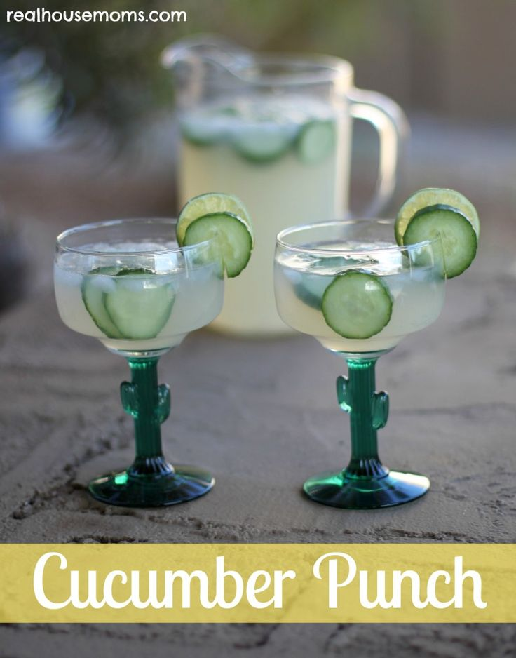 Cucumber Punch (Ingredients  1 seedless cucumber  2 liter bottle DIET 7-up  12 oz can frozen limeade, a little thawed  bag of crushed ice cubes  Pinnacle Key Lime Whipped Vodka)