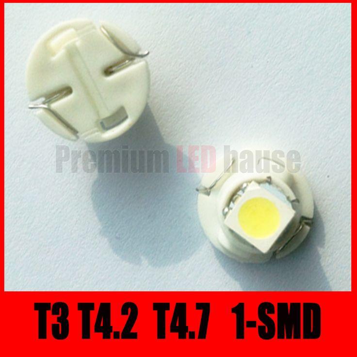 30 шт. T4.2 T4.7 T3 1-SMD 3528 Кластер Датчики Приборной Панели КРАСНЫЕ огни ламп 12 В Для Автомобиля