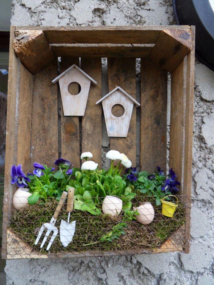 Picotee♥: DIY wiosenna dekoracja w skrzynce na o… – #automne #dekoracja #DIY…