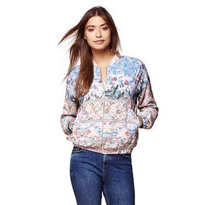 Yumi Multicoloured floral bomber jacket | Debenhams