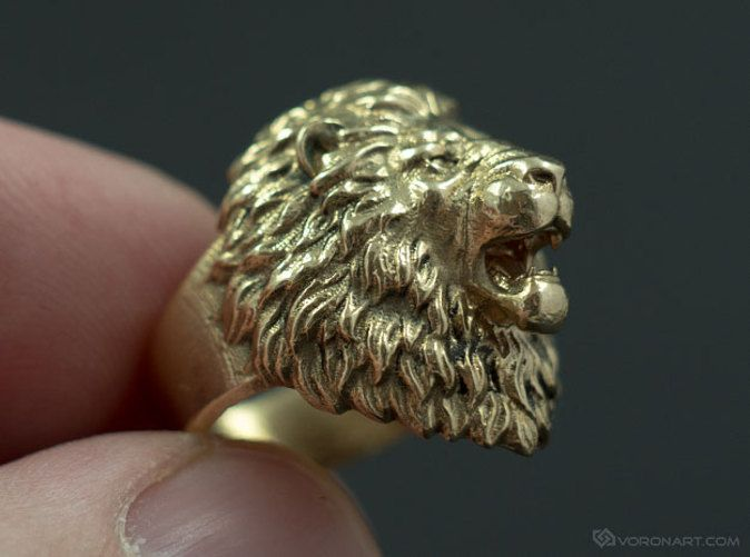 Check out Aggressive Lion Ring by voronartcom on Shapeways More products: http://voronart.com/for-sale/