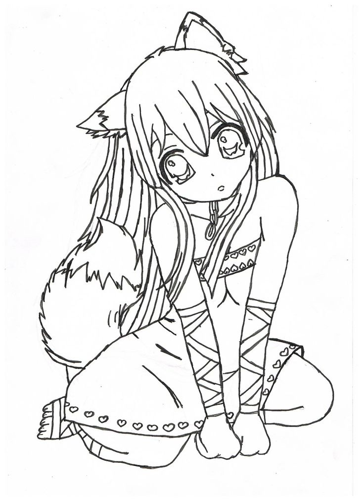 Nice Brilliant Anime Girl Coloring Pages Free