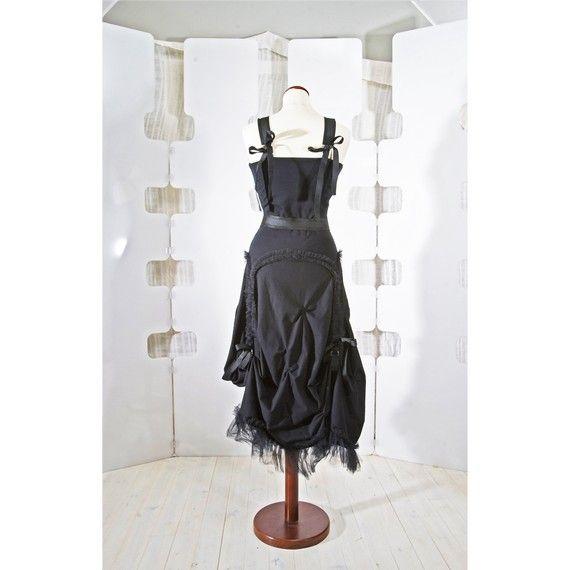 Black Dress jersey ruffled and romantic от lummedesigns на Etsy