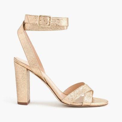 Metallic strappy sandal   sale