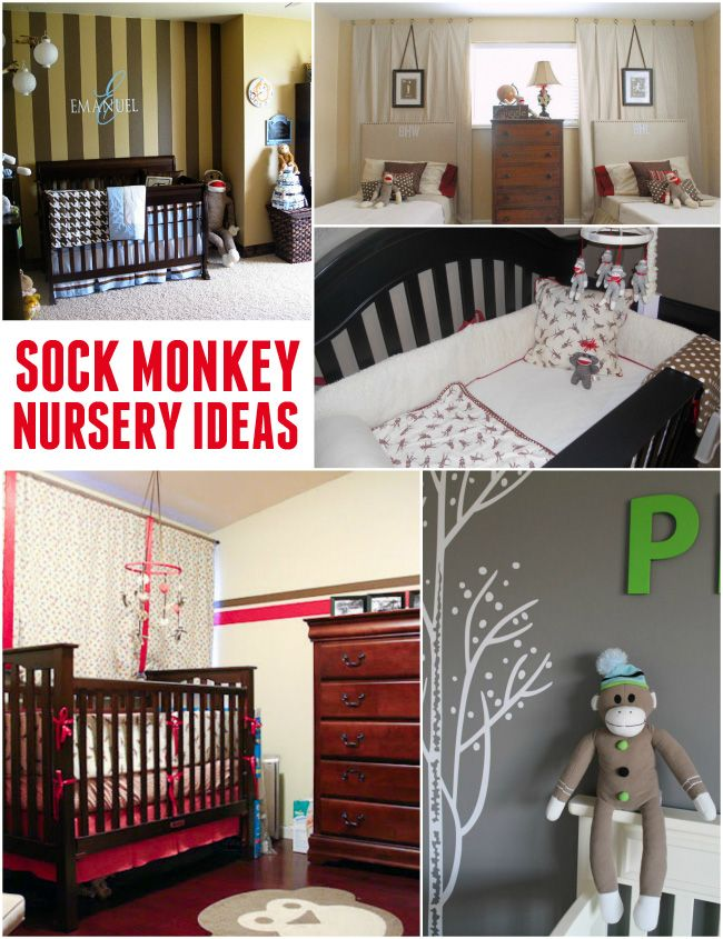 Cute Sock Monkey Nursery Ideas - this theme never goes out of style!