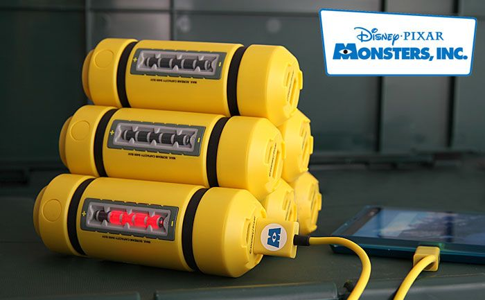 I need one: Monsters, Inc. energy tank phone charger | Retrohelix.com