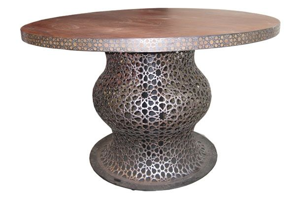 Table with Carving Brass Ref 002A