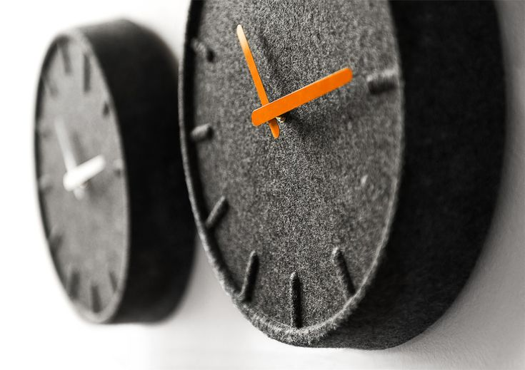 felted. clock.