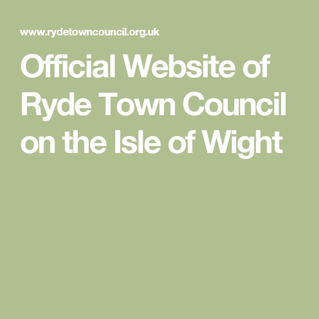 Official Website of Ryde Town Council on the Isle of Wight