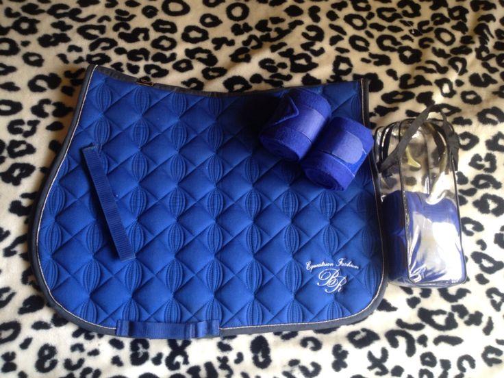 Br Brilliance Marianna Saddle Pad + Royal Blue HKM Bandages