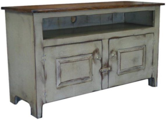 Cottage Chic White Primitive 48 inch TV Stand by ShakaStudios, $951.00