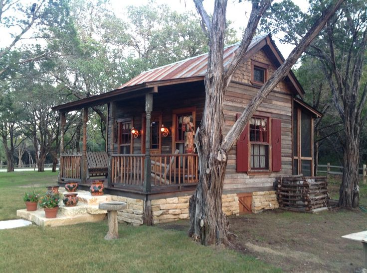 Here are some great shots of the manifestation of this tiny little house that ended up being named El Pequeno Lido This was an 11'x 18' Tiny Texas House done in the Texas Ranch House style that is ...