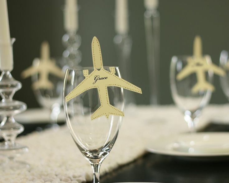 Airplane Place Cards set of 30 by TimelessPaper on Etsy