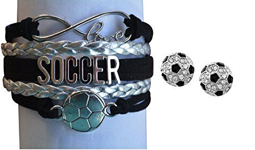 Girls Soccer Jewelry Set, Soccer Bracelet and Soccer Stud Earrings, Perfect Soccer Gifts for Girls Infinity Collection http://www.amazon.com/dp/B01CYQFVSS/ref=cm_sw_r_pi_dp_BXm-wb1YF9CTY