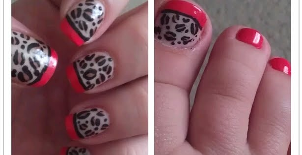 Cherry Leopard Mani/Pedi