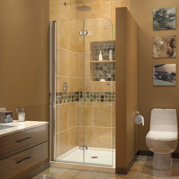 Aqua Fold 13 75 W X 72 H Pivot Semi Frameless Shower Door In 2020 Shower Doors Bifold Shower Door Semi Frameless Shower Doors